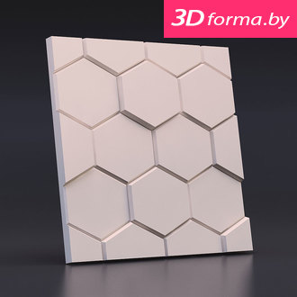 "Форма для 3D панелей ""Соты"""