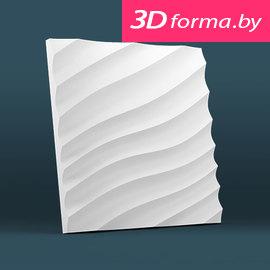 Форма для 3d панелей «Волна диагональная мелкая»