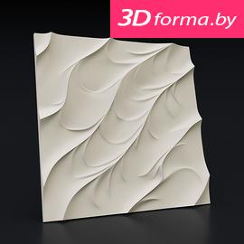 "Форма для 3D панелей ""Волна каноэ"""