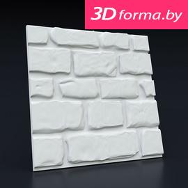 Форма для 3d панелей «Старый камень»