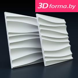 Форма для 3d панелей «Волна двойная»
