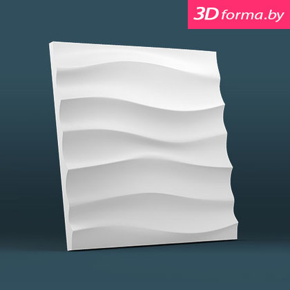 Форма для 3d панелей «Волна горизонтальная крупная»