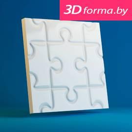 Форма для 3d панелей «Пазл большой»