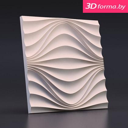 Форма для 3d панелей «Круговая волна»