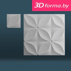 Форма для 3d панелей «Лепесток»