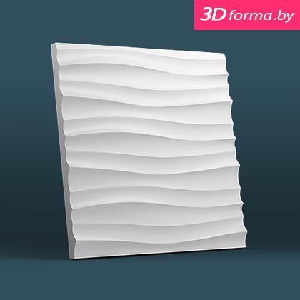 Форма для 3d панелей «Волна горизонтальная мелкая»