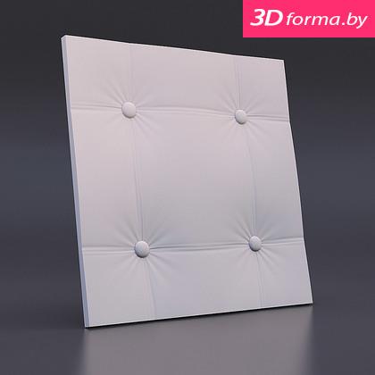 Форма для 3d панелей «Кожа прямой квадрат»