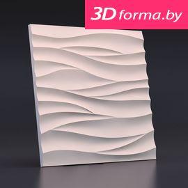 Форма для 3d панелей «Острые волны»