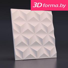 Форма для 3d панелей «Гексакуб»
