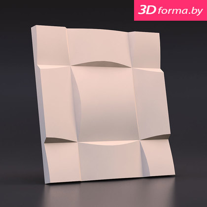 Форма для 3d панелей «Квадрат выпуклый»